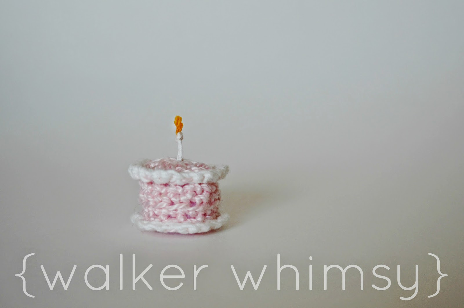 Walker Whimsy Itty Bitty Birthday Cake Crochet Pattern