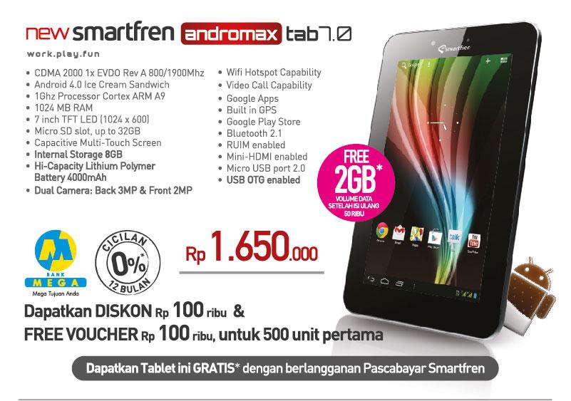 Spesifikasi New Smartfreen Andromax Tab 7.0