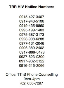 TRR 24/7 HIV HOTLINE NUMBERS