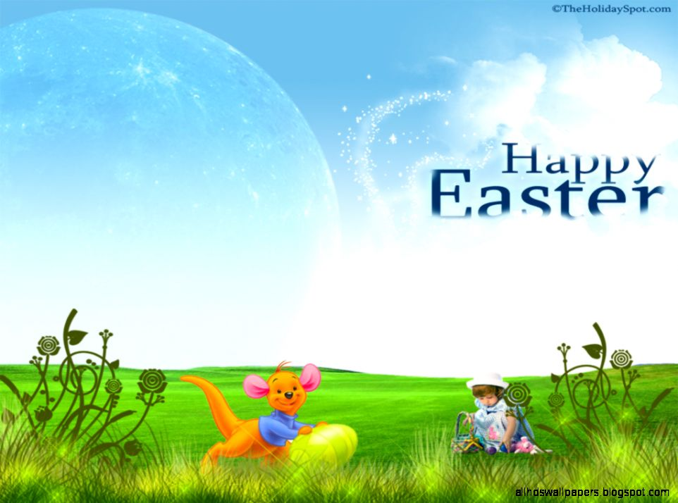 12 Winnie The Pooh 1024x768 Easter Cards Wallpaper   Educational