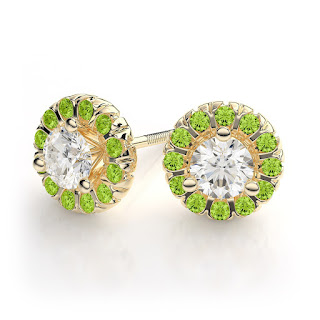 Beautiful Peridot Earrings for August Birthdays!