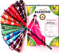 Diamond colourful henna cones