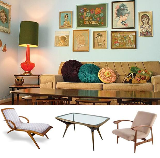 Casa de colorir amor pelo estilo retr for Mobiliario anos 50