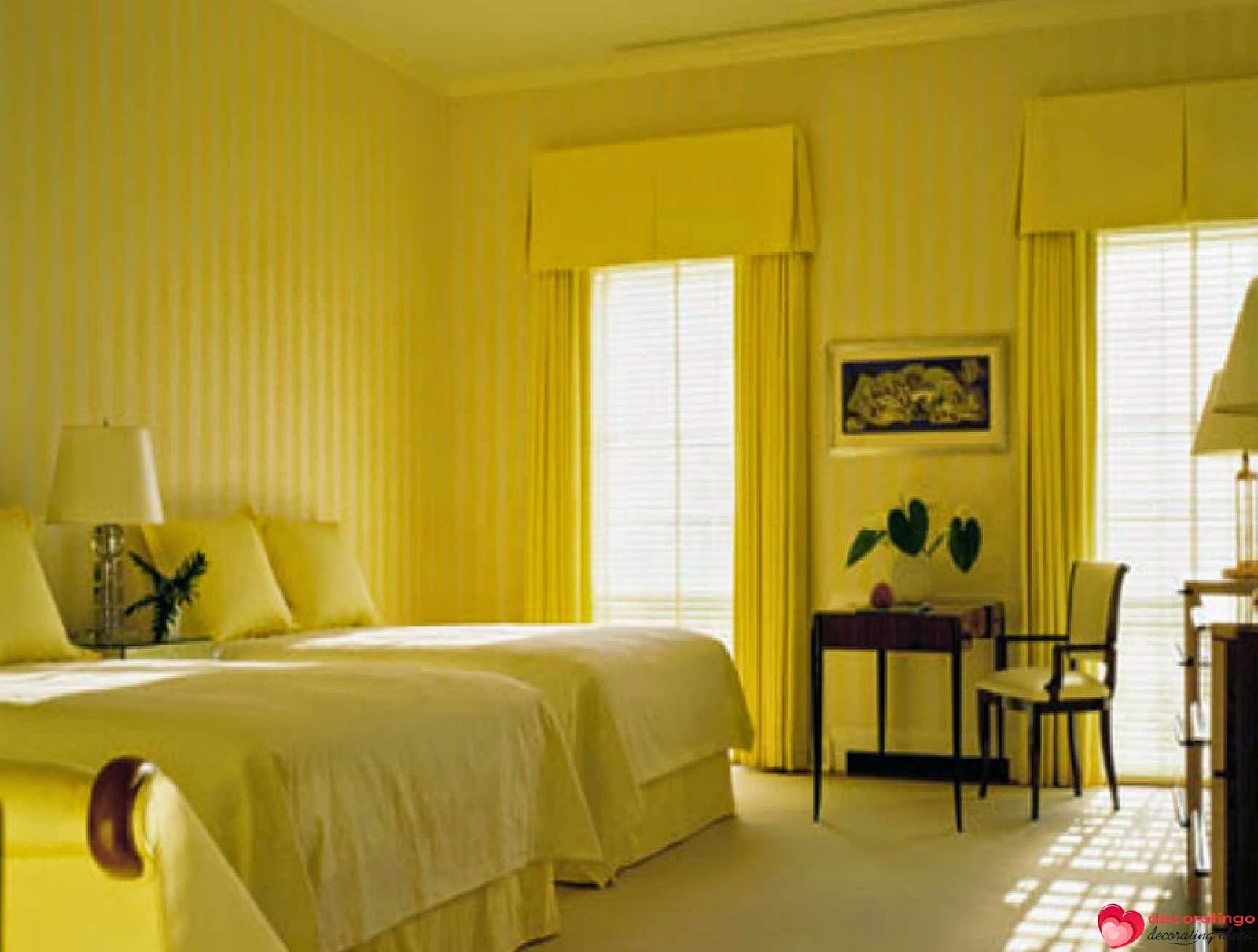 Yellow Bedroom Decorating Ideas - Wall Decor Ideas