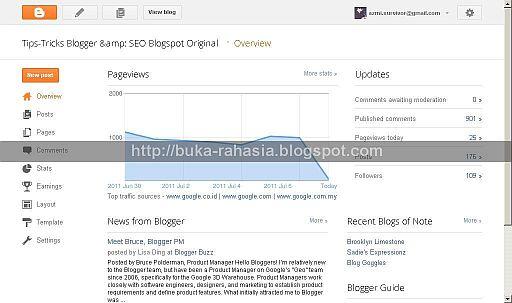 Tampilan Baru Dashboard Blogger dan Cara Menggunakan-nya - http://www.iniunik.web.id/