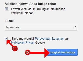 Saya menyetujui persyaratan layanan dan kebijakan privasi Google