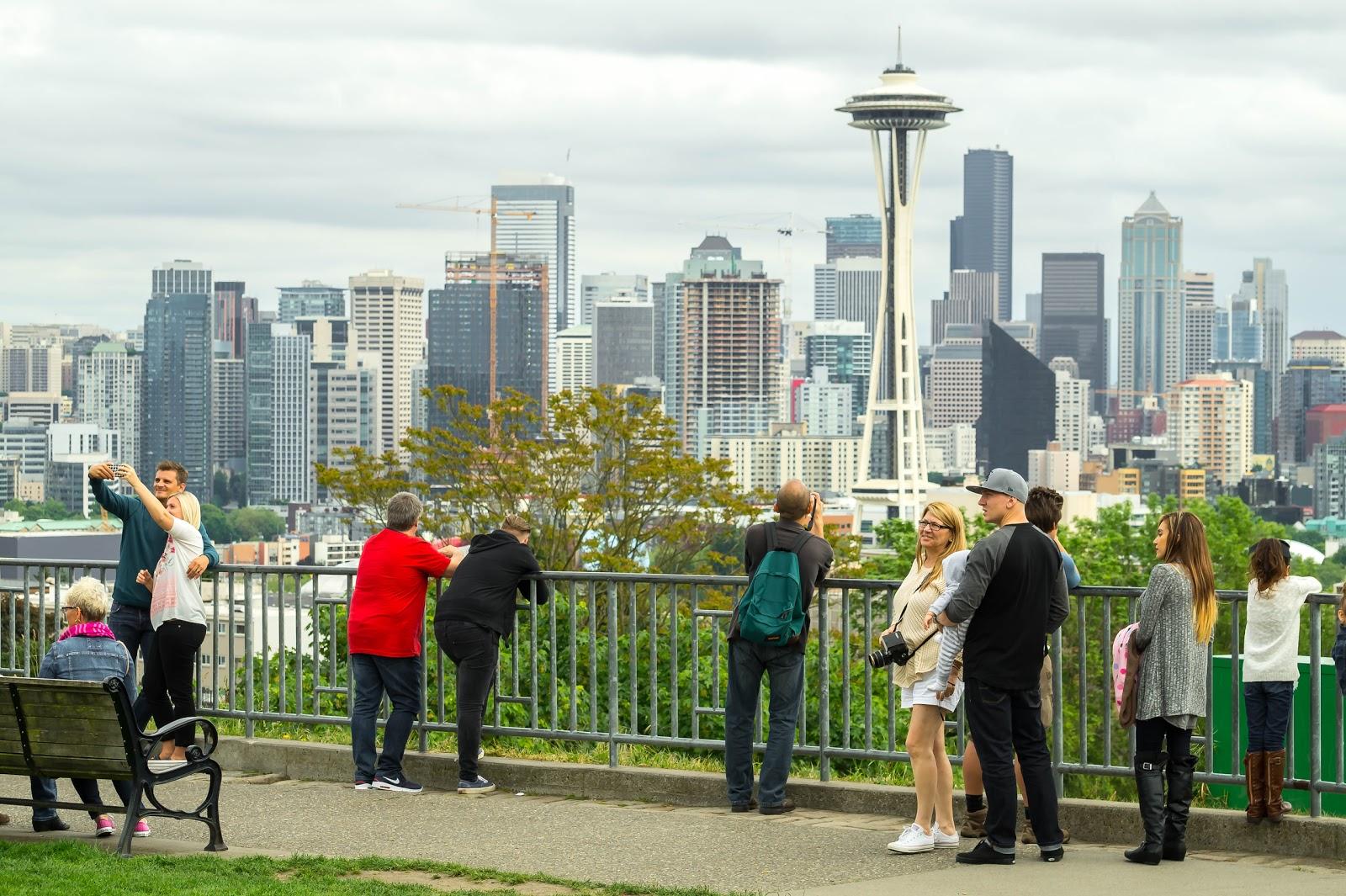 Парк Кэрри - любимое место фотографов в Сиэтле. Большинство фотографий города сделано именно отсюда.