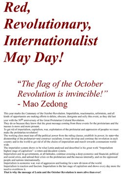 May Day 2017 Joint Declaration by Marxist-Leninist-Maoist Parties and Organizations