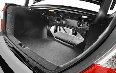 Porta malas do Honda Civic 2012 interior
