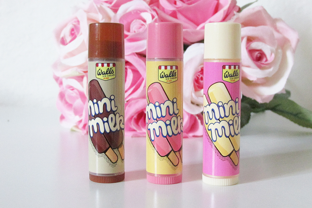 image of lip smacker walls mini milk trio, walls mini milk lip balm, lip smacker walls mini milk lip balms, lip smacker review, lip smacker mini milk review
