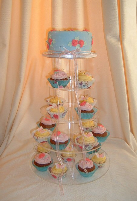Vintage Wedding Cupcake Tower by Designer Cakes by Sandra