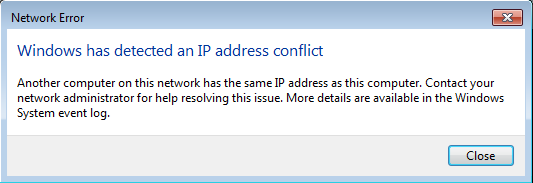 How to Fix IP Address Conflict 1