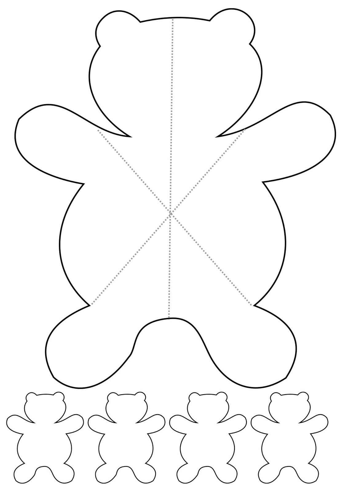 Haz click para imprimir el patron de la tarjeta osito teddy pop up