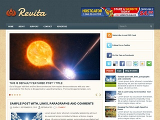 Revita Blogger Template