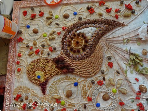 """BIRD OF HAPPINESS""-Painting from natural materials."