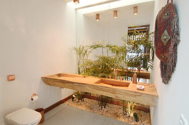 Construindo Minha Casa Clean Jardins de Inverno ou Internos!!! E 20 Plantas  -> Banheiro Pequeno Com Jardim De Inverno