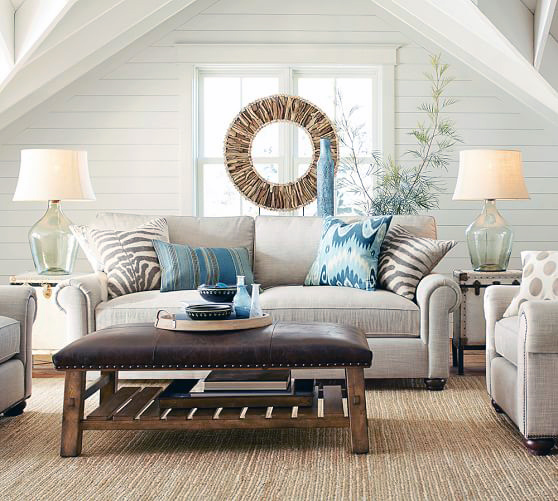 Coastal style living room styling tips for Living room styling tips