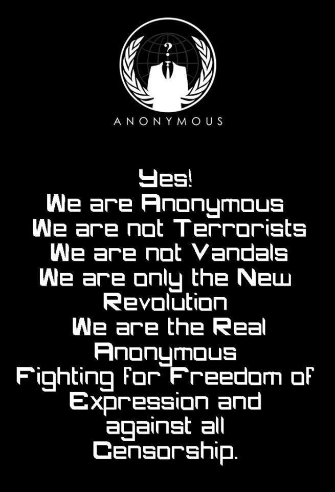 We Are Anonymous Quote