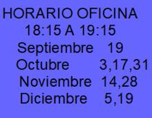 HORARIO OFICINA
