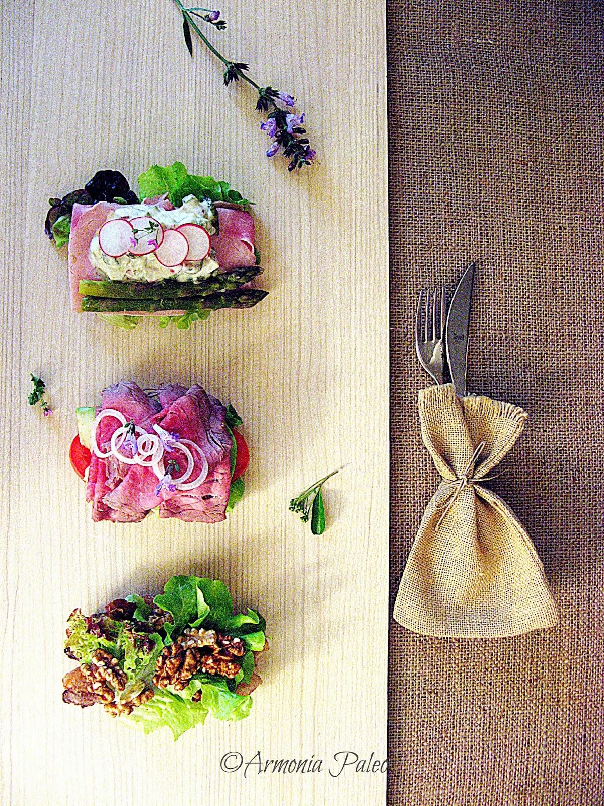Smørrebrød - Panino Aperto Danese con Carne di Armonia Paleo