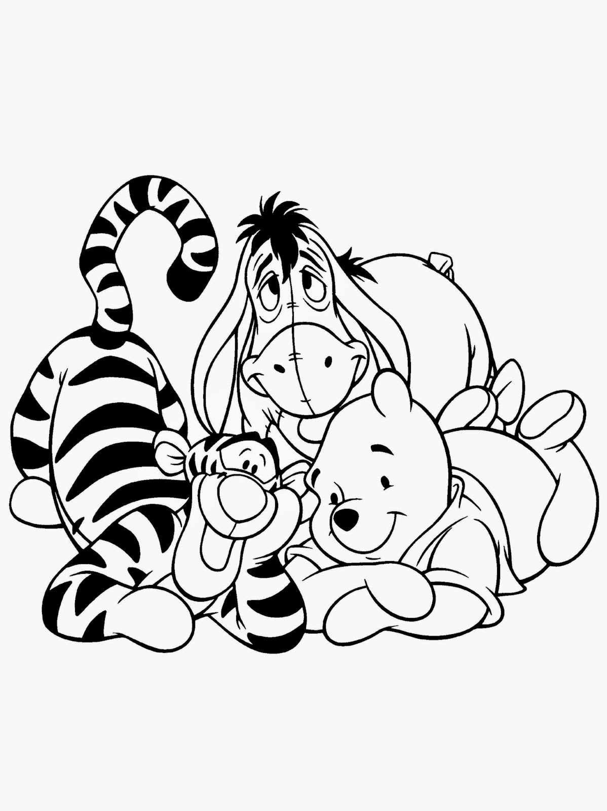 Winnie The Pooh Coloring Sheets Free Coloring Sheet