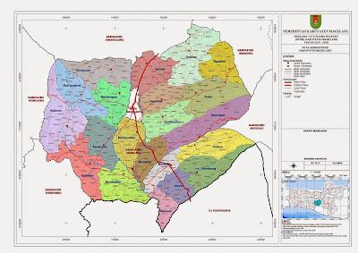 Peta Administrasi Kabupaten Magelang