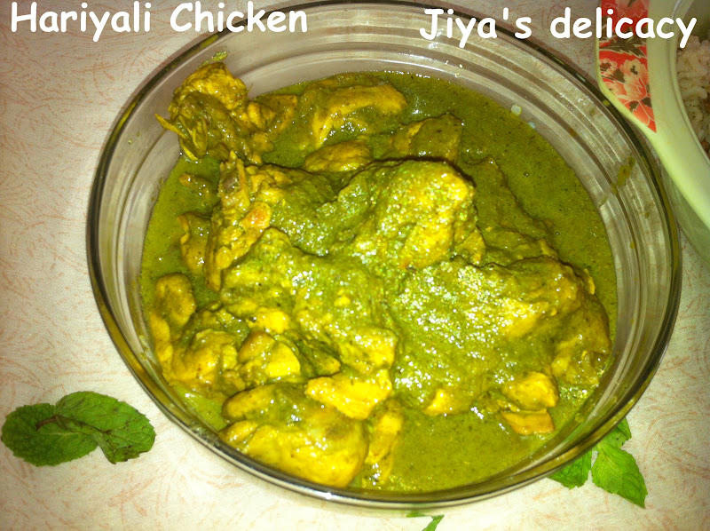 Jiyas delicacy hariyali chicken friday october 5 2012 forumfinder Choice Image