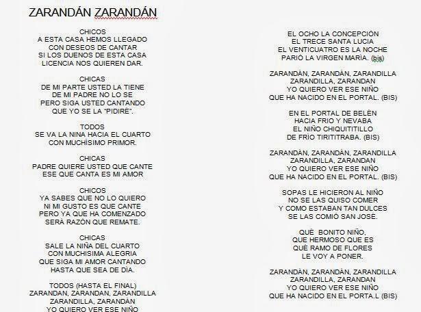 letras y acordes de los villancicos: