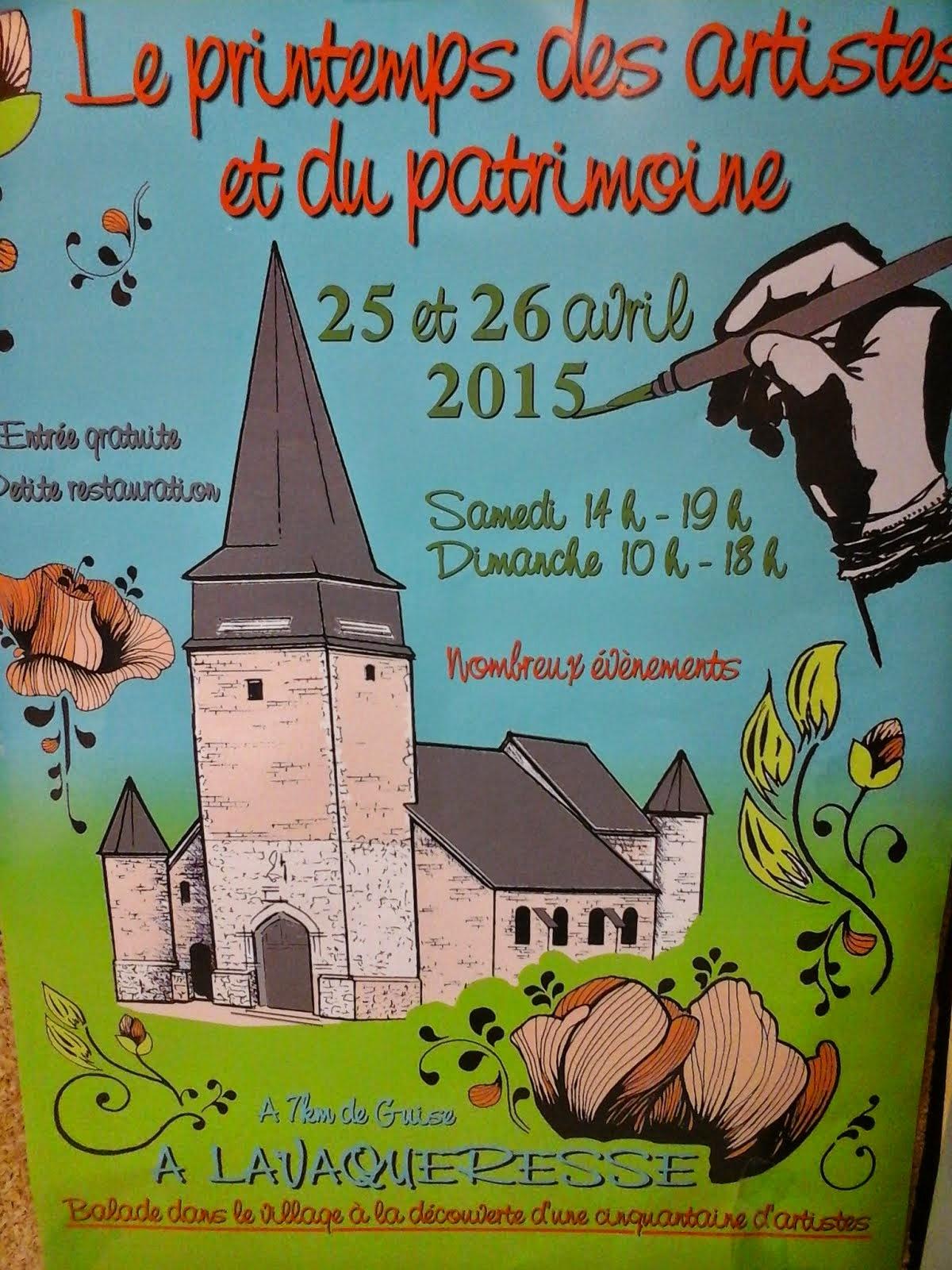Le printemps des artistes à Lavaqueresse le 25 et 26 avril !