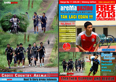 Download Contoh Cover Majalah Tabloid Arema