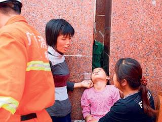 tersepit kepala di bandar yulin