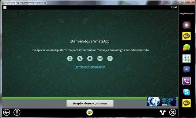whatsapp en pc bluestacks