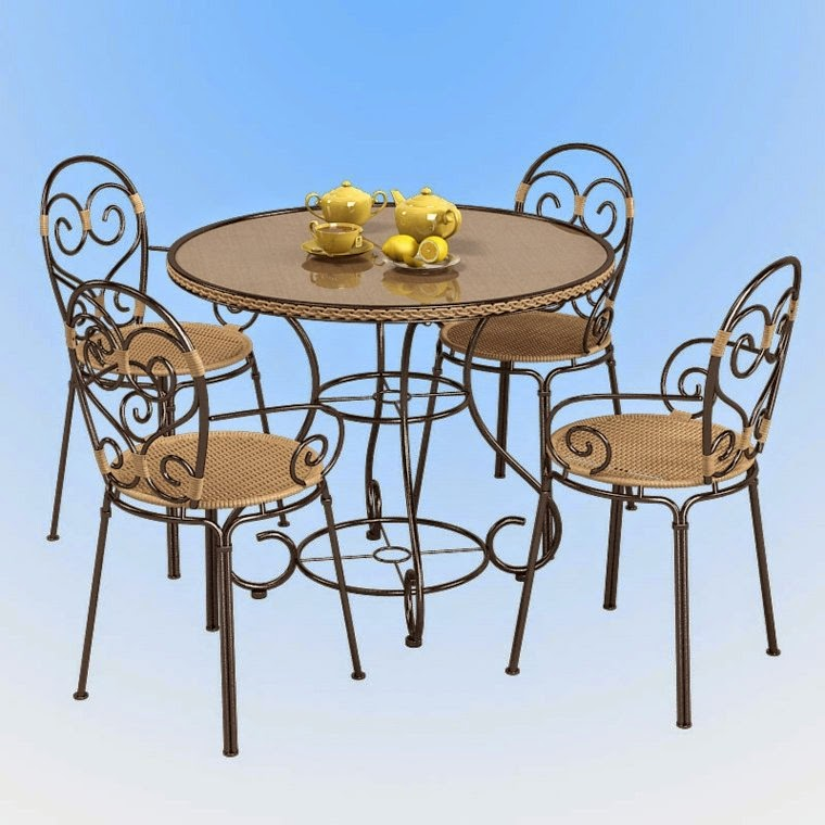 Round Garden Table and chairs,Round metal Garden Table