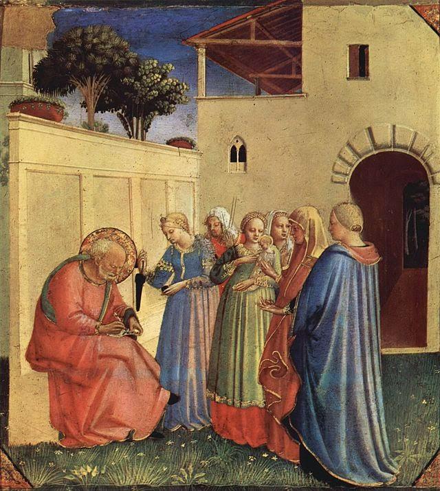El nombre de San Juan Bautista por el gran artista italiano Fra Angélico