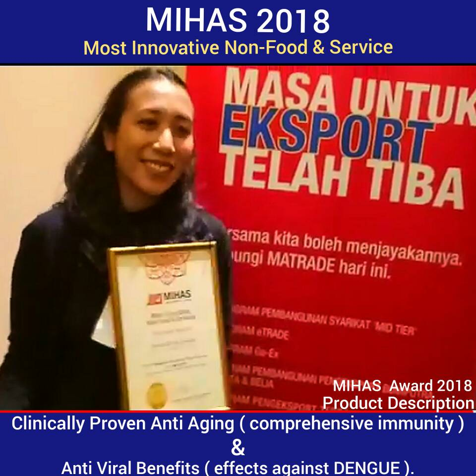 MIHAS 2018 Award Winner. Most Innovative Non-Food And Service.