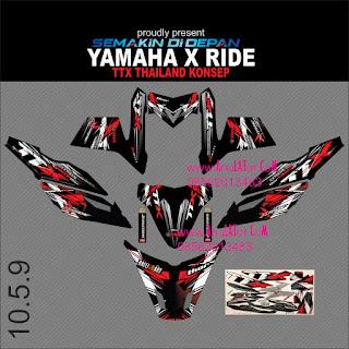 Sticker striping motor stiker Yamaha X Ride  Thailand 2