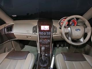Mahindra XUV 500 interior view
