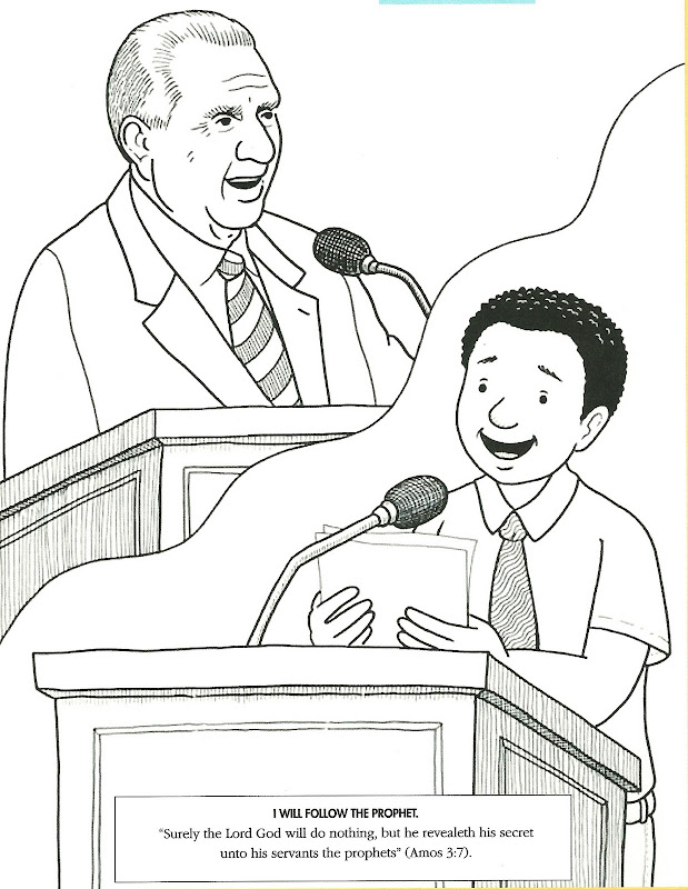 coloring page of the Prophet Joseph Smith from the April 2008 Friend  title=