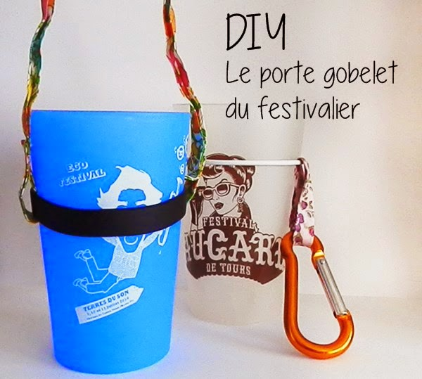 DIY Le Porte Gobelet Du Festivalier Caro Dels Blog DIY Et - Porte gobelet tour de cou