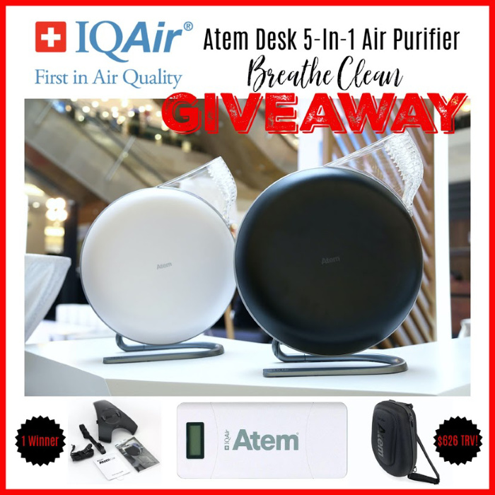 IQAir Atem Desk 5-In-1 Air Purifier Breathe Clean Giveaway