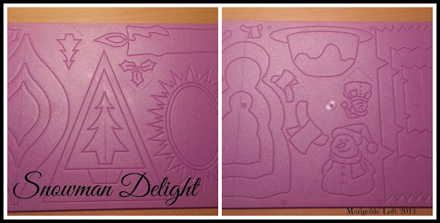 Snowman delight dry embossing boards