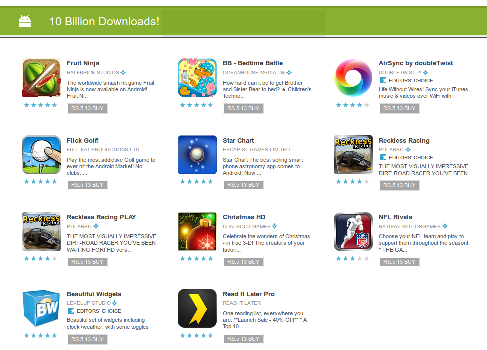 now best non market android apps 2011 you