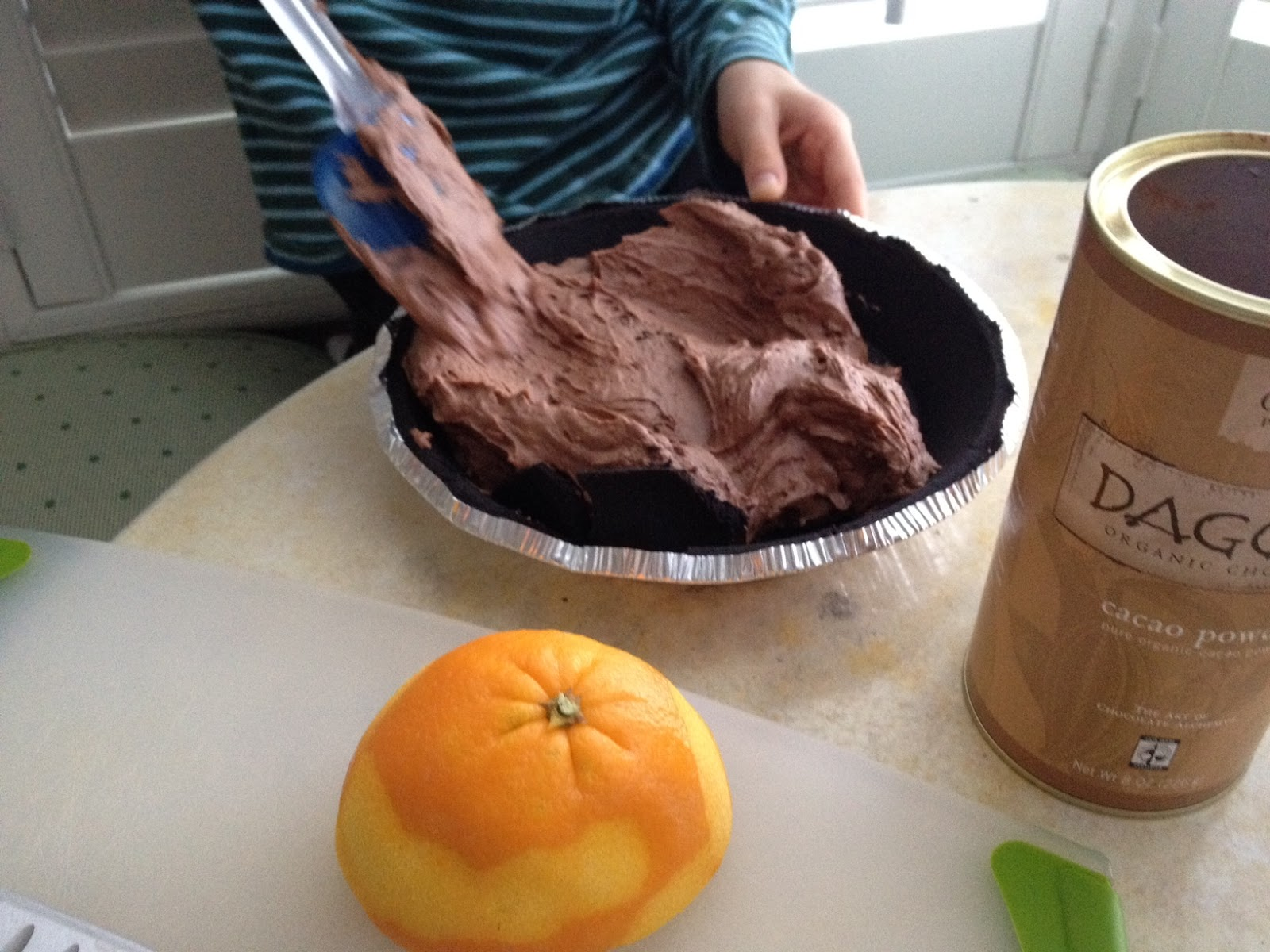 The Full Plate Blog: Chocolate-Orange Cream Pie (a.k.a. if you want ...