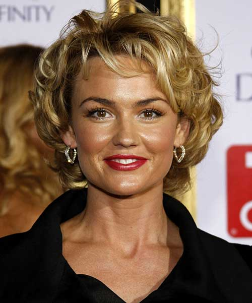 Famous Short Curly Haircuts for Round Faces Jere Haircuts