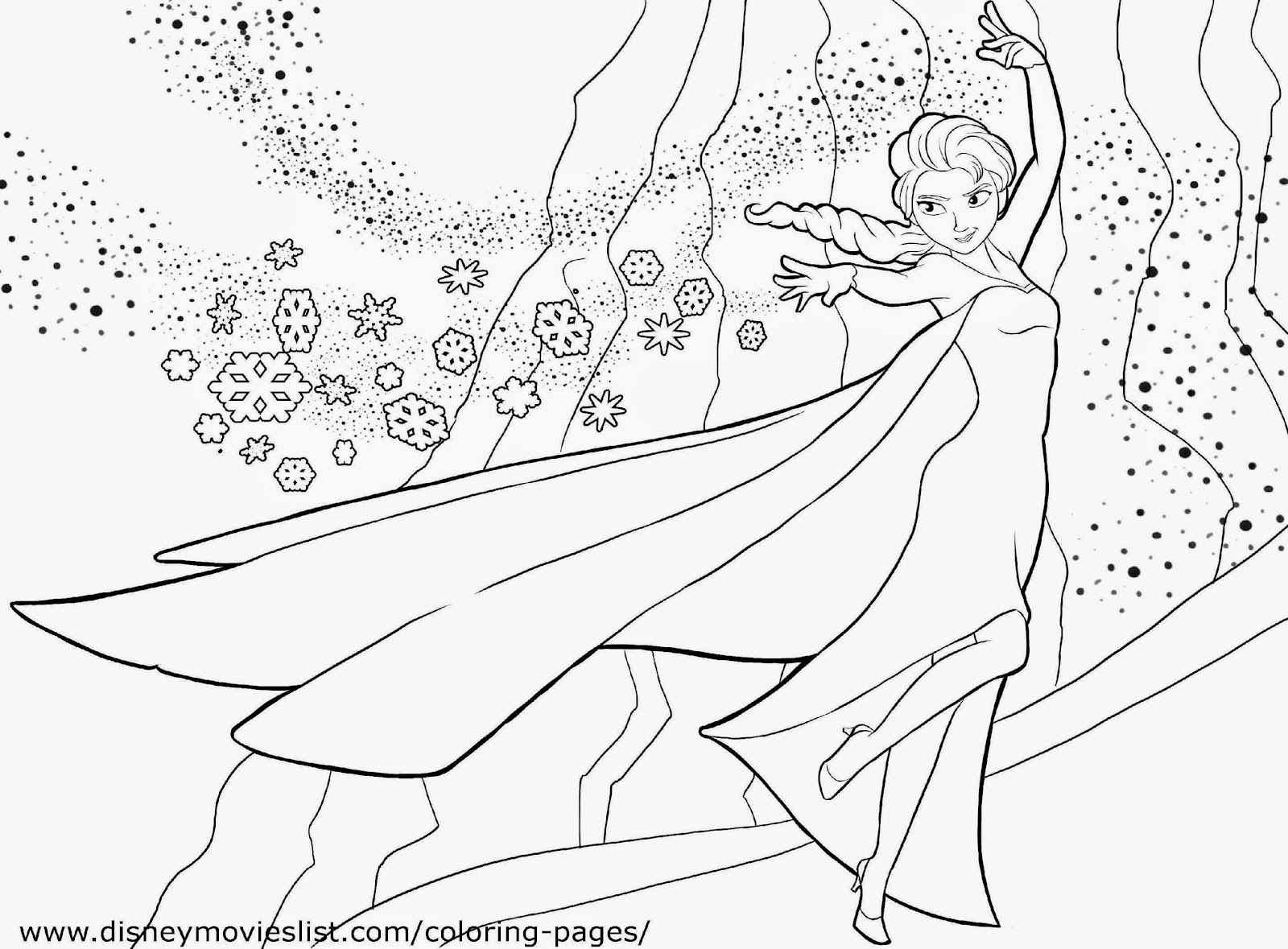 Frozen Coloring Sheet Free Coloring