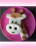 сандвич за деца жирафче