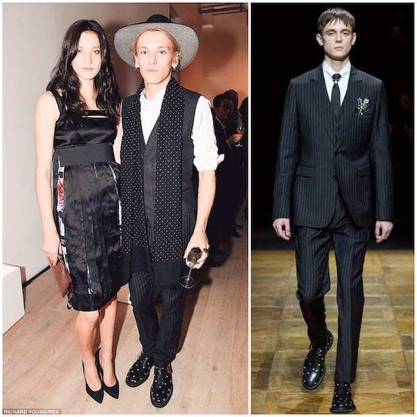 Jamie Campbell Bower wears Dior Homme by Kris Van Assche Fall Winter 2014 at Bianca Jagger charity evening 15th October 2014