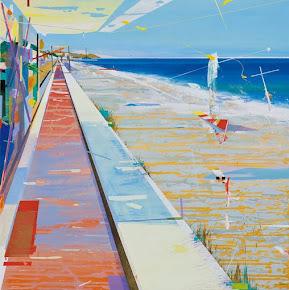 Tres pinturas de playa (Obra de Alfonso Albacete)