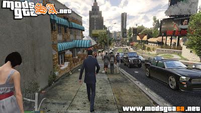 V - Mod Pedestres e Tráfego Realista para GTA V PC