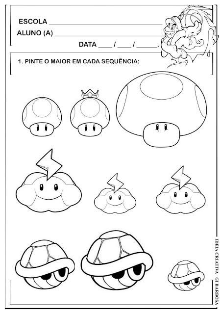 Atividade Sequência Maior/Menor Super Mario